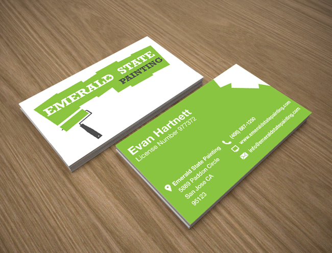 Emerald state painting web design limerick graphic design emeraldbusinesscards reheart Image collections